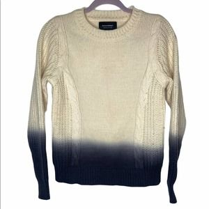 Banana republic limited dip dye cable knit sweater